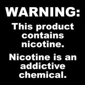 Warning: This product contains nicotine. Nicotine is an addictive chemical