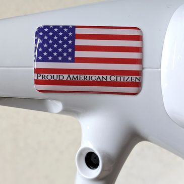 Proud American Citizen Sticker on drone