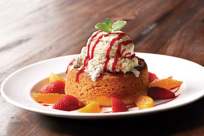 Butter cake is one of the dessert options on Mastro Steakhouse's three-course summer menu for $69.