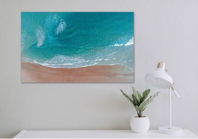 Drone image of Sapphire Beach NSW printed on metal.