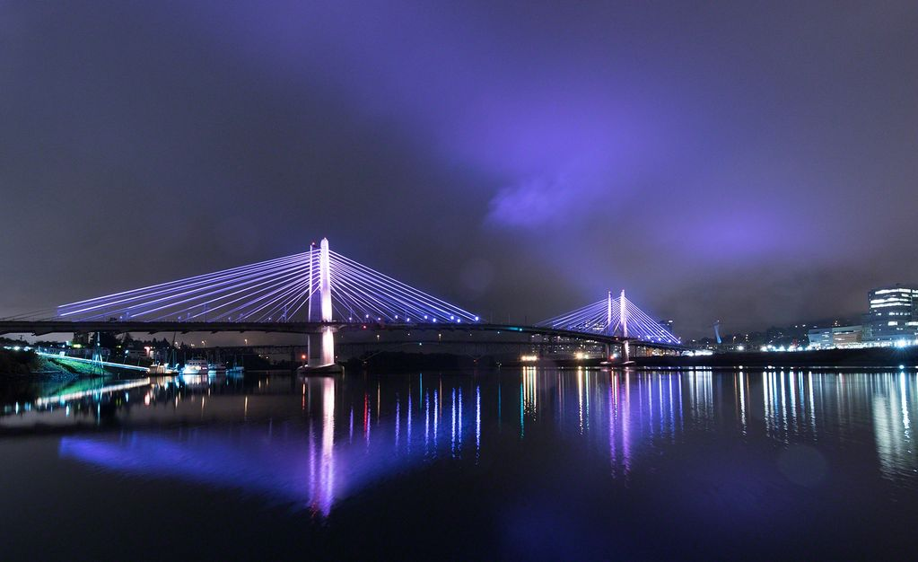Tilikum Crossing Bridge in Portland Oregon
