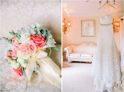 The Inn at Oak Lawn Farms features private bridal suite. Wedding Venue Carla Gates Photography.