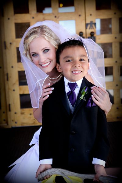 Beautiful bride and ring boy. Nature Pointe is a beautiful venue!  Albuquerque wedding photography