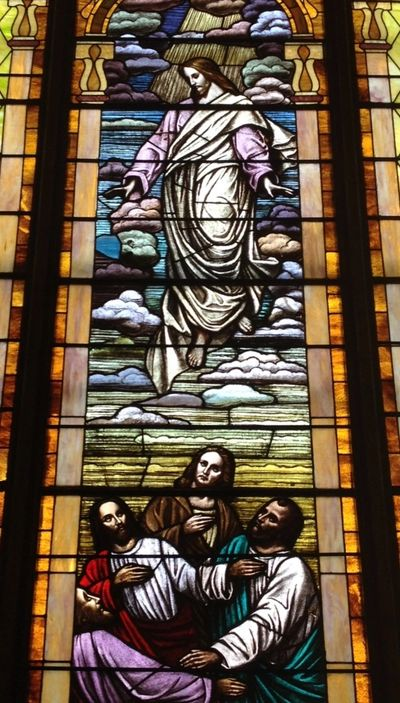 Ascension Stained Glass North Window of Sanctuary