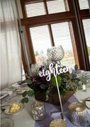 Wedding Centerpieces.  Table numbers and event decoration.