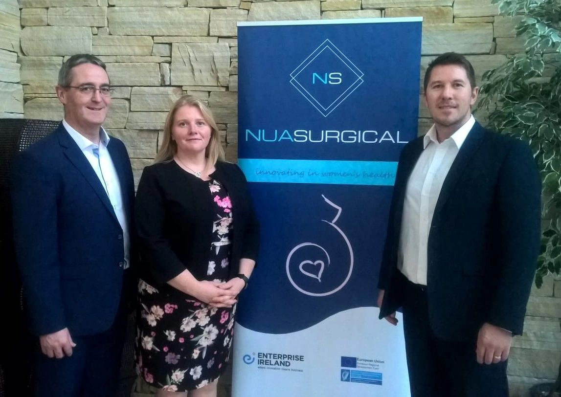 Padraig Maher, Marie Therese Maher and Barry McCann of NUA Surgical
