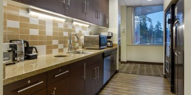 Fargo Electrical Kitchen area for employees and clients