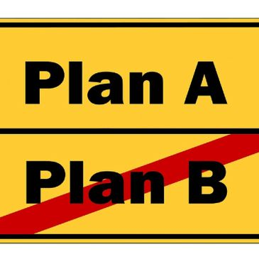 Images of Plan A and Plan B. Plan B not being an option if you want to leave the cycle of victimization.