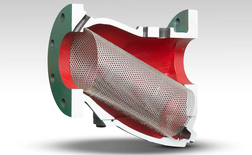 Low Pressure Differential Strainer Cutaway