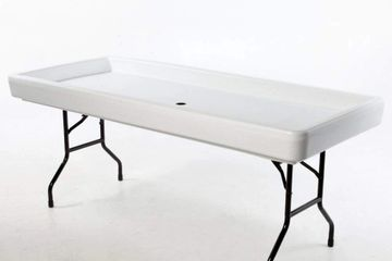 Large 6' Ice Table •	Available in White •	Interior Dimensions:  (69″L x 29″W x 3 1/2″D) •	Exterior D