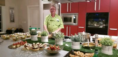 Photo of Chef Pavel at a Cremesh catering event
