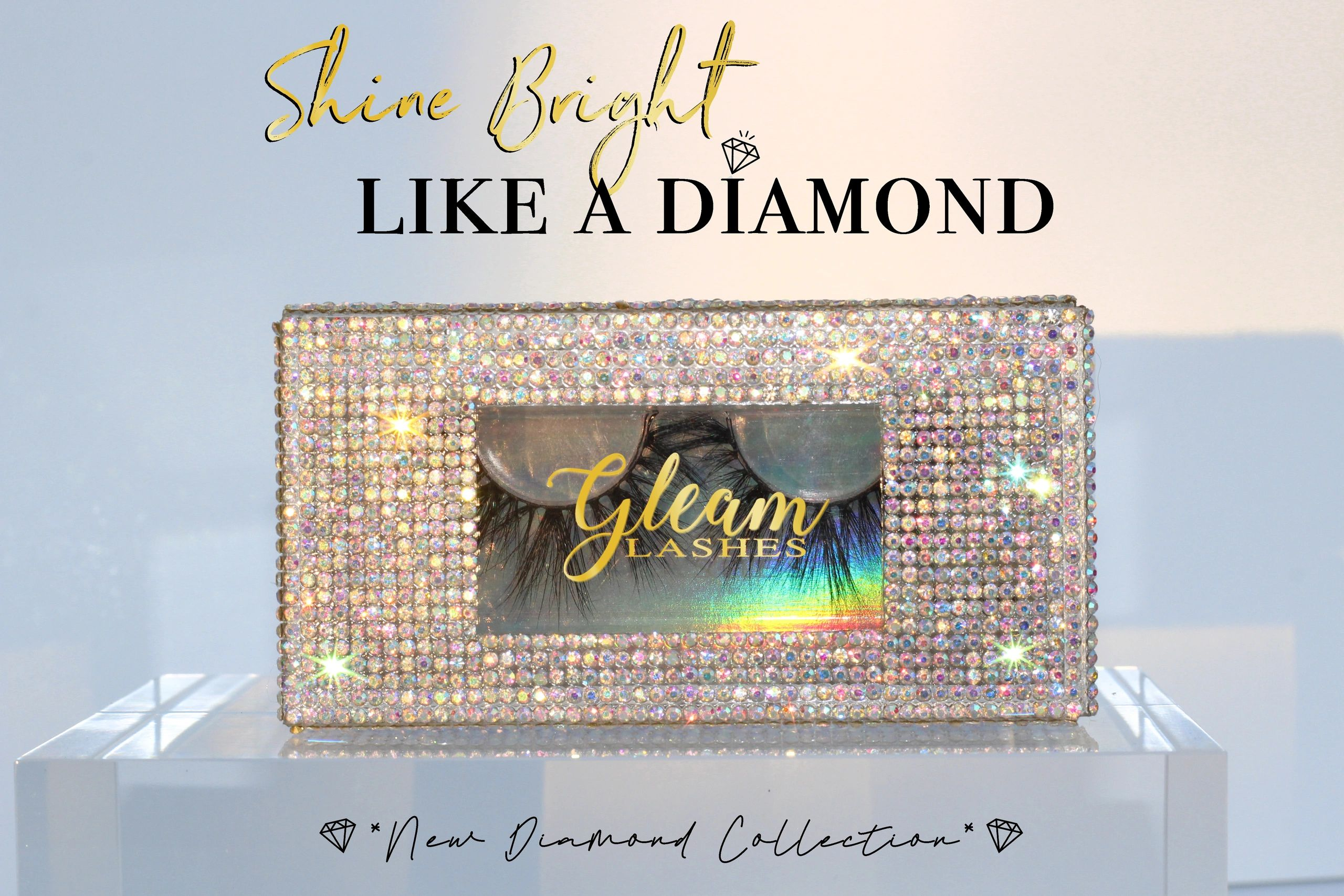 Shine Bright like a diamond banner. New Diamond collection out now