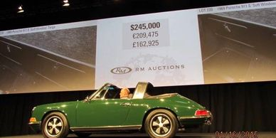 1969 Porsche 911S soft window targa RM Auctions