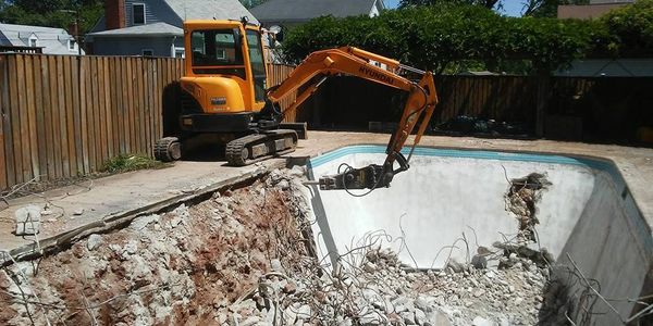 Pool Removal Service. Demolition and hauling.
