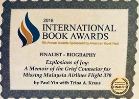mh370, trina kraus, paul yin, education, teacher, author, book awards, malaysia