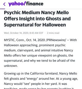 Psychic Medium Nancy Mello offers insight into ghosts and supernatural for Halloween