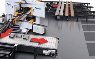 structural steel cnc band saw