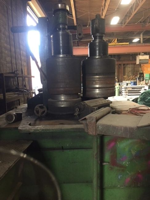 used 7 inch by 7 inch horizontal angle bending roll