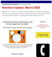 A picture of Dr. Halton's newsletter