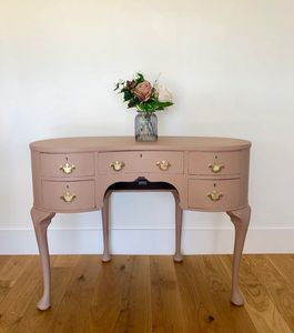 pink dressing table pink console table