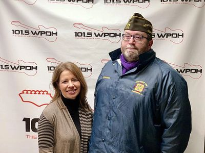 Christa Hines, the Executive Director of Hudson River Housing, and Commander Tom at WPDH.