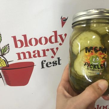 bloody mary and spicy pickles