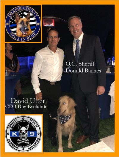 Orange County Sherrif Donald Barnes   K-9 Fundraiser Training Exhibition
