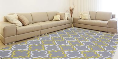 Soft Modern Reversible Rug - Damask