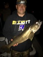 A beautiful Walleye caught while on a charter with Captain Mike Salamon.