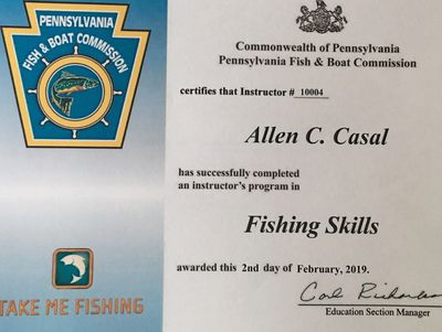 I am a PFBC certified fishing skills instructor.