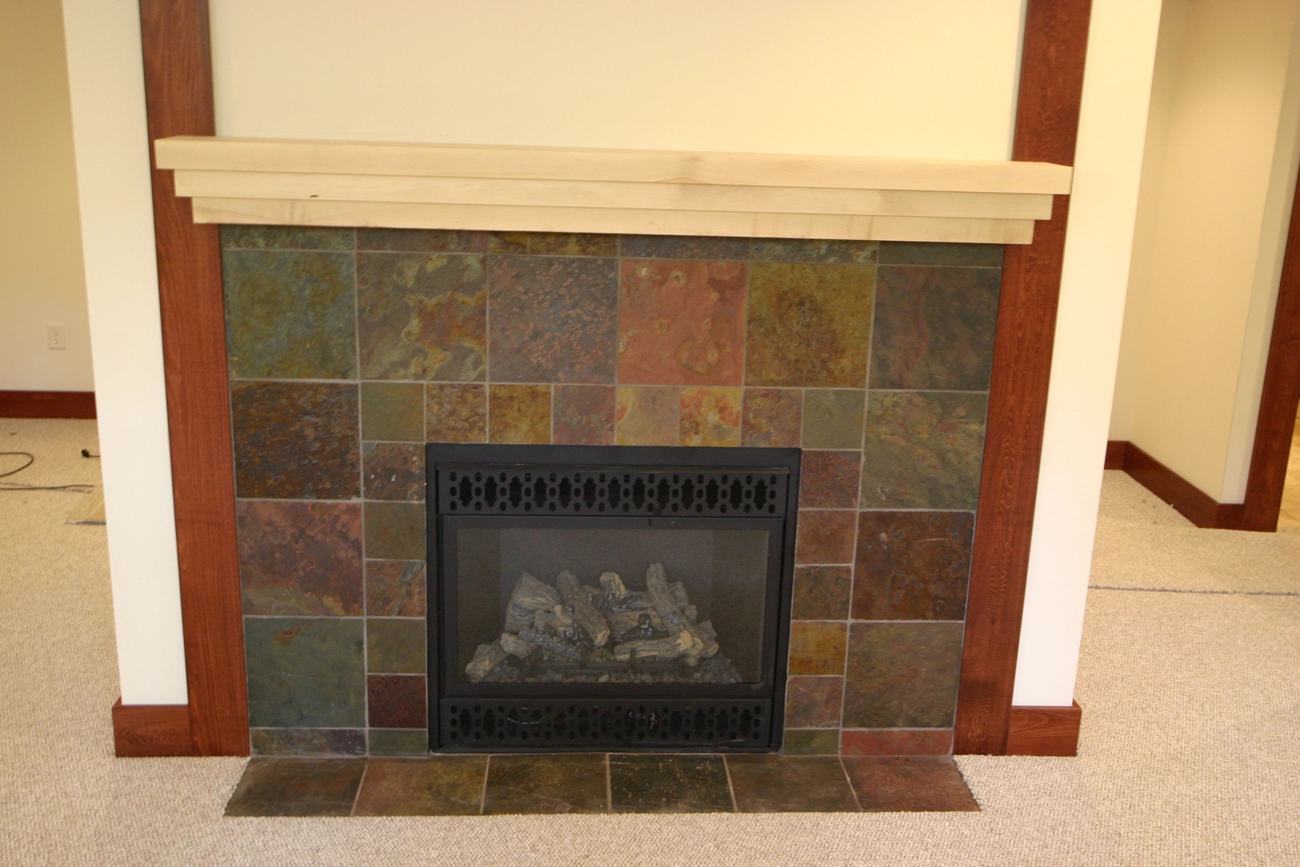 tile surround to fireplace l build phase and a mantlesurround how