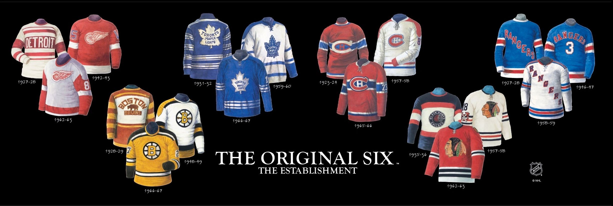 "This ""Original Six Jerseys"" poster is one of the best selling posters in Canadian history."