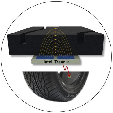 Tire tread sensor works with a tyre pressure sensor