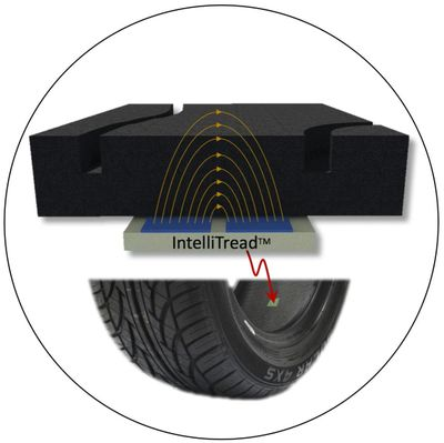 IntelliTread tire wear bar indicator