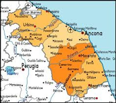 Map of Le Marche Region