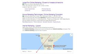 Proof of Advisor2u website in 1st page for keyword 'online marketing consultant'