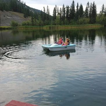 Paddle Boating around the Lake.