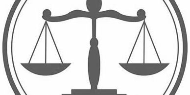 Scales of justice.  Legal services.