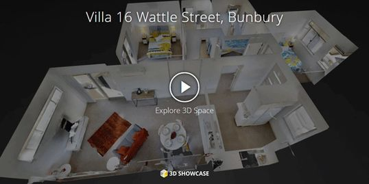 Plan 2 Move 3D showcase virtual tour of Villa 16 Wattle Street Retirement Summit Bunbury