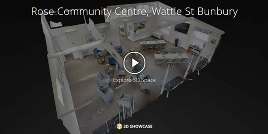 Plan 2 Move 3D Showcase Virtual Tour of Rose Community Centre Wattle Hill Bunbury