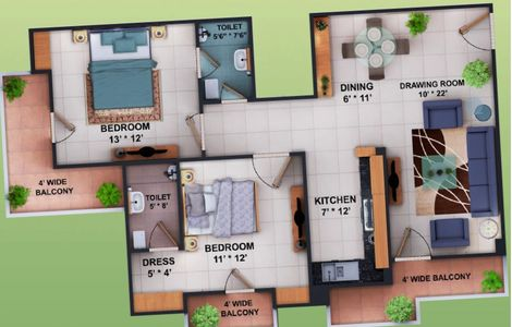 2 3 bhk flats apartments pristine homes rudrapur ready to move in semi furnished affordable housing