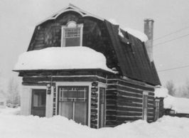 Kitty's house in the winter of 1967 before its move to Pioneer Park.