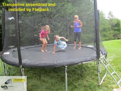Trampoline assembled by Flatpack in Gaithersburg, MD