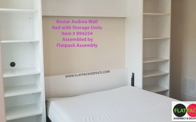 Bestar Audrea Wall Bed with two Storage Units Item # 894254 BEST 10 Furniture Assembly near Petworth