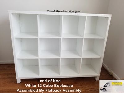 Land of Nod  12-Cube Bookcase  SKU: 552604 Assembled by Flatpack Assembly