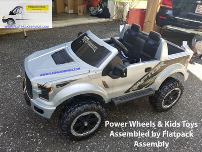 Power Wheels Ford F150 Raptor FJJ63 assembled by Flatpack Assembly 202 277-5911  - Service Mattel