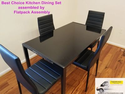 Amazon Best Choice Dining set 5 piece assembled by Flatpack Assembly