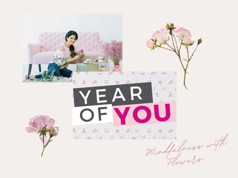 Mindfulness with flowers workshop online with Tish Tash 'Year of you'