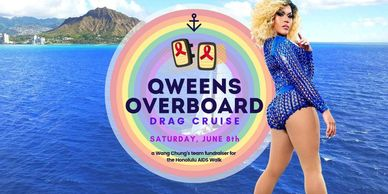 Paradise Pride Boat Cruise, Gay Catamaran, Gay Booze Cruise, Drag Queen, Honolulu, Waikiki, Pride