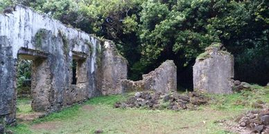 Kaniakapupu Ruins, Gay Oahu Historic Sites, Hawaii Historic Sites, LGBT Places to Go, Historical